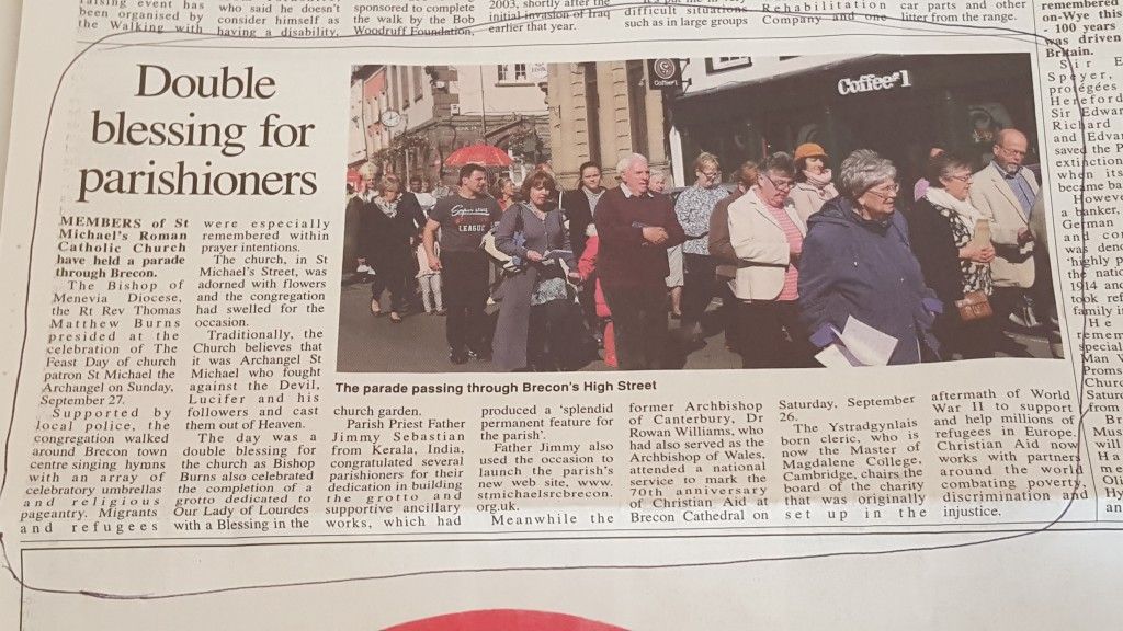 The Brecon & Radnor Express on 1st October 2015
